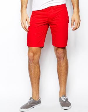 Шорты чиносы United Colors Of Benetton. Цвет: красный