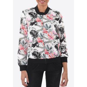 Куртка-бомбер прямого покроя KAPORAL. Цвет: рисунок/экрю