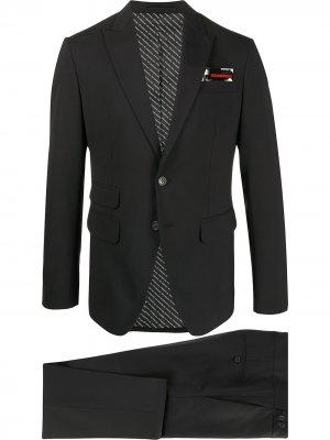 Строгий костюм с однобортным пиджаком Dsquared2. Цвет: черный