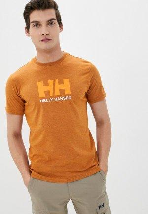 Футболка Helly Hansen HH LOGO T-SHIRT. Цвет: оранжевый