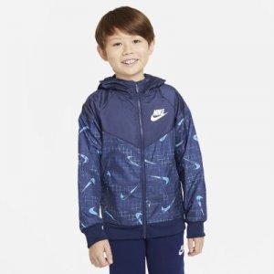 Куртка для мальчиков школьного возраста Sportswear Windrunner - Зеленый Nike