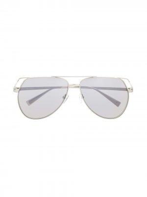 Солнцезащитные очки-авиаторы Telma The Attico. Цвет: серебристый