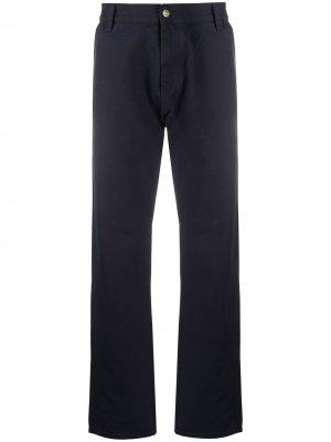 Прямые брюки Carhartt WIP. Цвет: синий