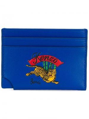 Визитница Tiger Kenzo. Цвет: синий