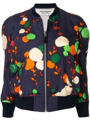 Куртка-бомбер с цветочным принтом Junya Watanabe