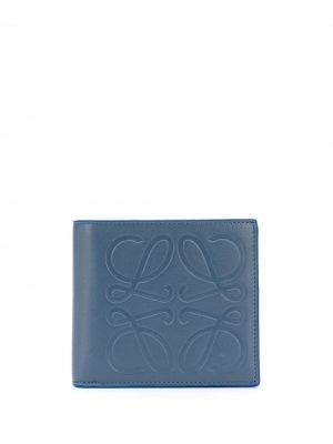 Бумажник с тисненым логотипом Loewe. Цвет: синий
