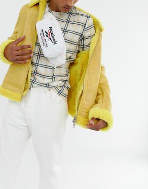 Белая сумка-кошелек на пояс с вышивкой и логотипом Reebok. Цвет: белый