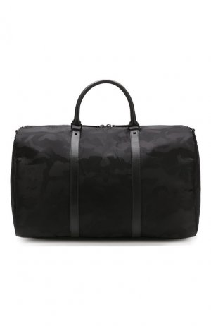 Текстильная дорожная сумка Garavani Jacquard Camouflage Valentino. Цвет: чёрный