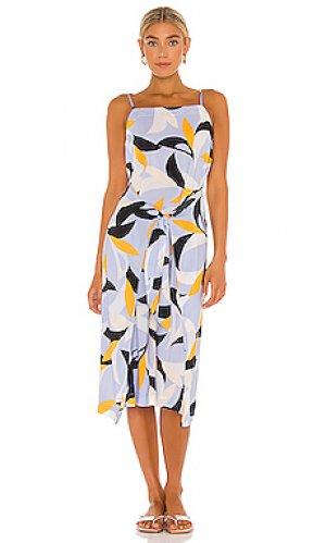Платье миди aloha Seafolly. Цвет: синий
