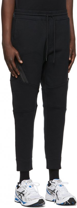 Black Diagonal Raised Utility Lounge Pants C.P. Company. Цвет: 999 black