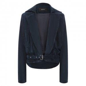 Кожаная куртка Jitrois. Цвет: синий