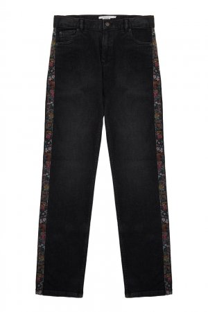 Черные джинсы Dewey5 Bonpoint. Цвет: черный