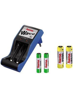Зарядное устройство Hama H-74031 WAVE. Цвет: черный, синий