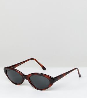 Черепаховые солнцезащитные очки кошачий глаз Inspired эксклюзивно для ASOS-Коричневый Reclaimed Vintage