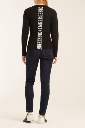 Черный пуловер с логотипом Dirk Bikkembergs