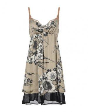 Короткое платье ANIYE BY. Цвет: зеленый-милитари