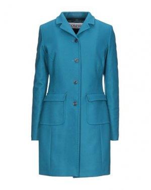 Пальто GEOSPIRIT. Цвет: лазурный