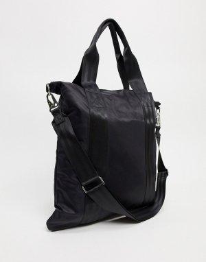 Черная сумка-шопер со съемным чехлом для ноутбука -Черный ASOS DESIGN