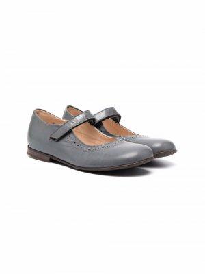 Туфли с брогированием Pèpè. Цвет: серый