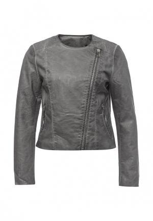 Куртка кожаная Silvian Heach. Цвет: серый