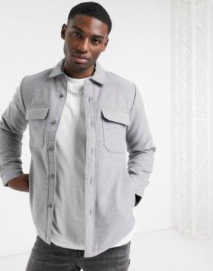 Рубашка навыпуск из нейлона -Серый Abercrombie & Fitch