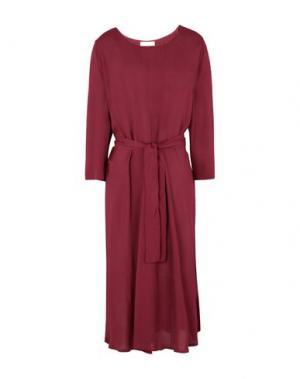 Платье миди 2ND DAY. Цвет: красно-коричневый