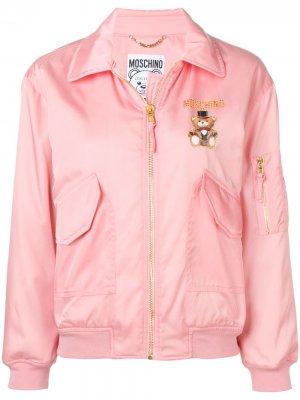 Куртка-бомбер с принтом Moschino. Цвет: розовый