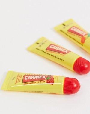 Три бальзама для губ в тубах -Прозрачный Carmex