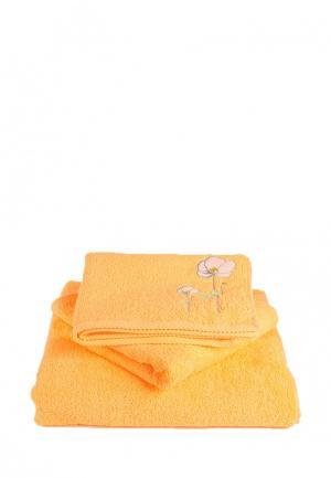 Набор полотенец Bellehome Нежность. Цвет: желтый