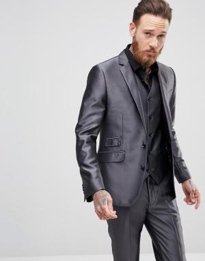 Облегающий пиджак -Серый Devils Advocate
