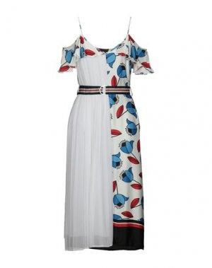 Платье длиной 3/4 KI6? WHO ARE YOU?. Цвет: белый