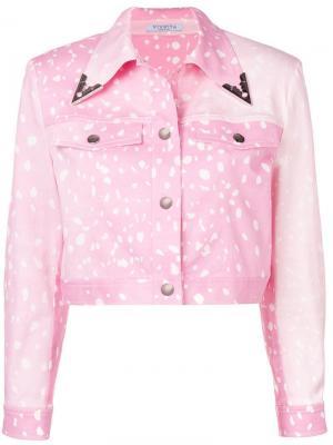 Джинсовая куртка Ferrara Vivetta. Цвет: розовый