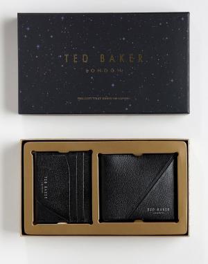 Подарочный набор с бумажником и визитницей Piaza-Черный Ted Baker