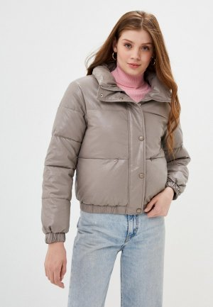 Куртка кожаная Fadjo. Цвет: бежевый