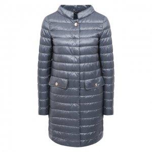 Пуховое пальто Herno. Цвет: синий