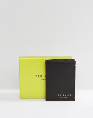 Кожаный складывающийся бумажник Zacks-Коричневый Ted Baker