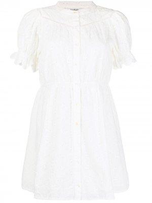 Короткое платье Beky с вышивкой Ba&Sh. Цвет: белый