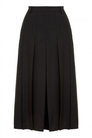 Черная юбка в складку LAROOM. Цвет: черный