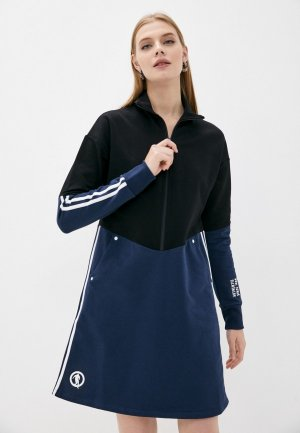 Платье Bikkembergs. Цвет: синий