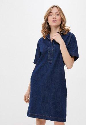 Платье джинсовое Savage. Цвет: синий
