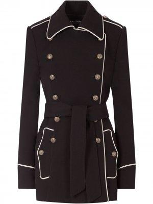 Бушлат с контрастным кантом Dolce & Gabbana. Цвет: черный