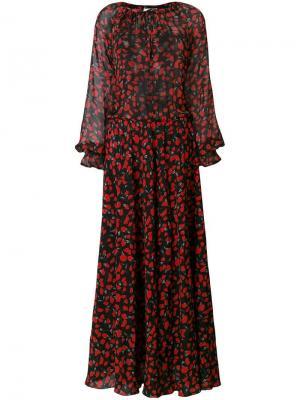 Длинное платье Kate с цветочным рисунком Raquel Diniz