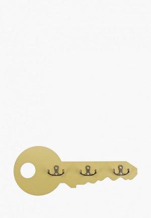 Ключница настенная Мастер Рио Ключик, 35х14х3 см. Цвет: хаки