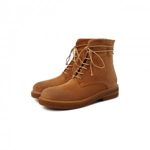 Замшевые ботинки Marsell. Цвет: бежевый