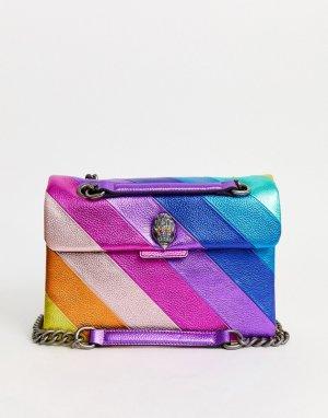 Большая кожаная сумка с разноцветными вставками Kensington-Мульти Kurt Geiger London