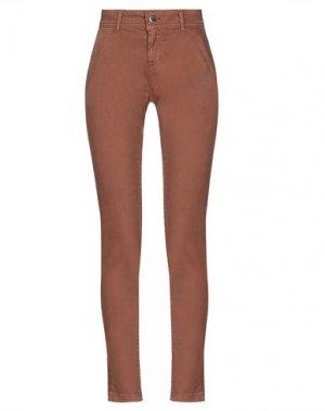 Повседневные брюки FLY GIRL. Цвет: коричневый