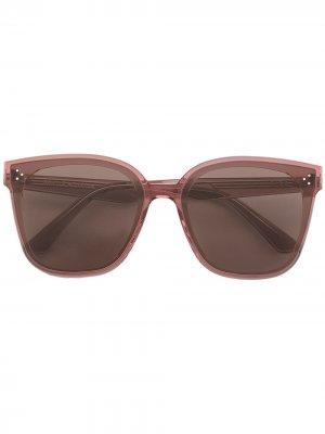 Солнцезащитные очки в прозрачной оправе Gentle Monster. Цвет: розовый