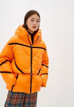 Пуховик Dorothee Schumacher. Цвет: оранжевый