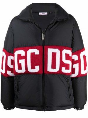 Пуховик с логотипом Gcds. Цвет: черный