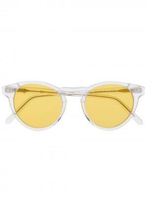 Солнцезащитные очки в прозрачной оправе Eleventy. Цвет: желтый